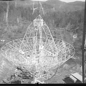 Satellite dish under construction in 1963
