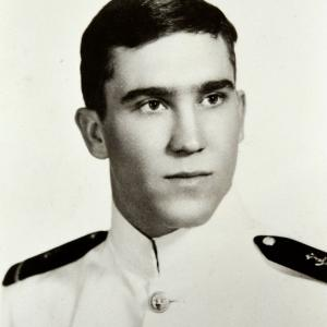 Mike Smith early in his Naval career