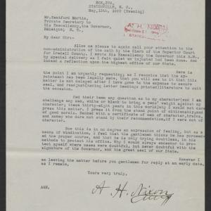 Letter from A. H. Nixon to Santford Martin, May 13, 1920