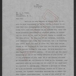 Letter from Santford Martin to A. H. Nixon, May 19, 1920