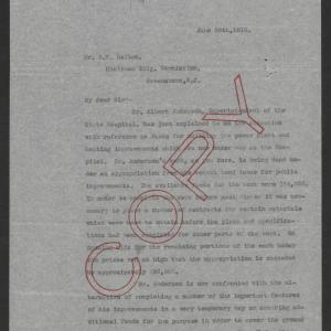Letter from Thomas W. Bickett to Robert F. Dalton, June 26, 1918, page 1