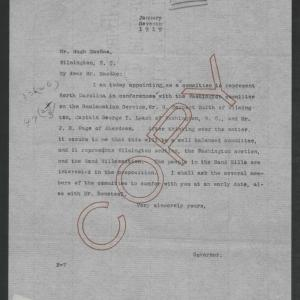 Letter from Thomas W. Bickett to Hugh MacRae, January 7, 1919