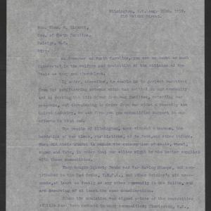 Letter from Citizens of Wilmington to Thomas W. Bickett, August 22, 1919, page 1