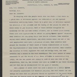 Letter from Elliott S. Millsaps to Thomas W. Bickett, January 2, 1920, page 1