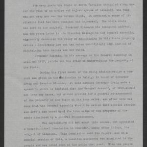 Press Statement by Thomas W. Bickett on the Revaluation Act, February 23, 1920, page 1